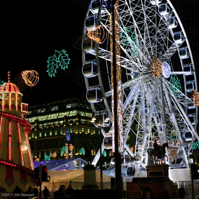 Christmas Lights, George Square, Glasgow